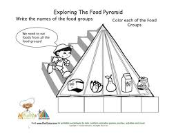 printable blank fill in food pyramid and food group worksheet boy