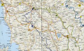 Map Of Florence Italy by Map Of Tuscany Italy World Map