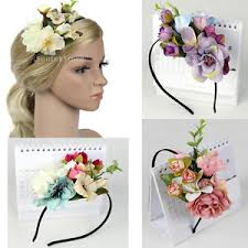 flower headpiece women wedding flower headpiece headband boho flower crown