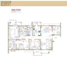 3 Bhk Apartment Floor Plan by 3 Bhk 1877 Sq Ft Apartment For Sale In Vatika Seven Lamps At Rs