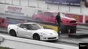 zr1 corvette quarter mile 302 vs corvette zr1 1 4 mile drag race road test tv
