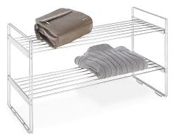 whitmor stackable closet shelves 2 tier chrome shelves review