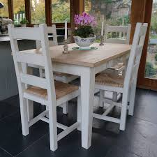 fonthill table with ladder back chairs hand painted by rectory