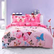 Girls Queen Size Bedding by Pink Blue And Black Butterfly Bedroom Ideas For Girls Pastel