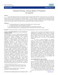 transfer pricing a case study of vodafone