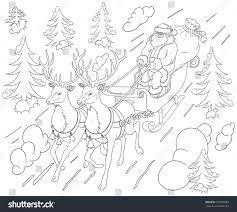 santa claus coloring book stock vector 726986803