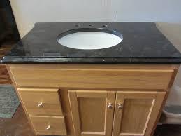 guest bathroom granite countertop with single vanity granite