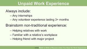 How To Write A Resume For Warehouse Job by Work Experience Resume How To Write Resume With No Experience