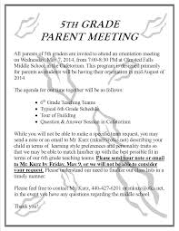 friendly letter template 2nd grade april 2014 olmsted falls schools blog update parent meeting invite revised 14 15 05 07