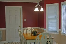 Chair Rails In Dining Room by Two Tone Wall With Chair Rail Bedroom Decor Brown On Bottom And A