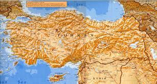 Syria Turkey Map by