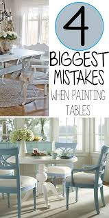 The  Biggest Mistakes People Make When Painting Their Kitchen - Painting kitchen table