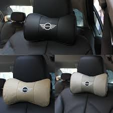 siege auto mini cooper kunbaby leather 2pcs car styling leather car neck pillow car