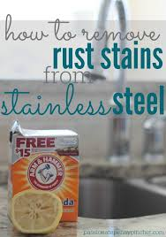 remove rust from sink how to remove rust stains from stainless steel freshen your sink