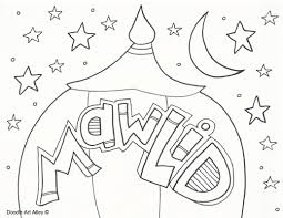 mawlid coloring pages religious doodles