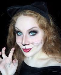 kitty cat halloween makeup look