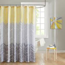 Gray And Brown Shower Curtain - buy yellow fabric shower curtain from bed bath u0026 beyond