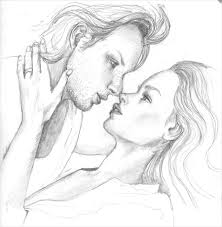 couple pencil paintings pencil sketches of couples in love cute