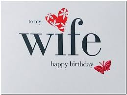 birthday card sayings to wife