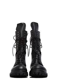 mens lace up motorcycle boots rick owens men u0027s elastic long chunky lace up boots in black in