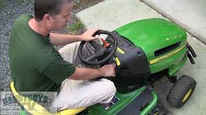 john deere la115 lawn tractor controls intro youtube