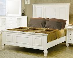 White Furniture Set Coaster Sandy Beach Light Low Profile Panel Bedroom Set 201301 Bed
