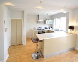 beautiful white kitchen with peninsula taste