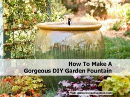 Small Patio Water Feature Ideas by Small Homemade Water Fountains Diy Tabletop Fountain How To Build