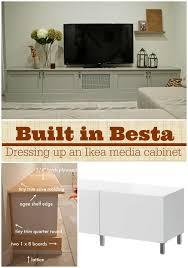 Custom Cabinet Doors For Ikea Cabinets Ikea Hacking A Besta Media Center Into A Custom Diy Built Ins