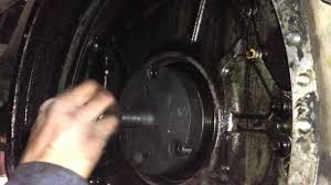 part 1 rear main seal installation 3406 caterpillar youtube