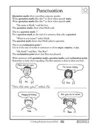 1st grade reading writing worksheets punctuation