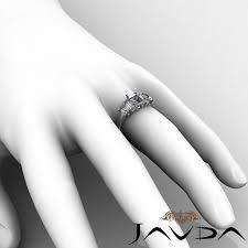 emerald cut five 5 stone diamond engagement ring 14k white gold