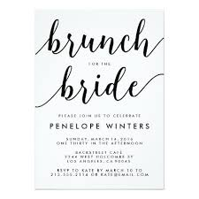 bridal shower brunch invitations chic script brunch bridal shower invitations stationery