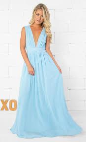 light blue sleeveless dress indie xo let it go light blue sleeveless plunge v neck pleated loose c