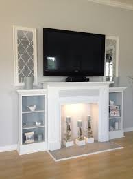 Faux Fireplace Tv Stand - home decor fake fireplace tv stand decorations ideas inspiring