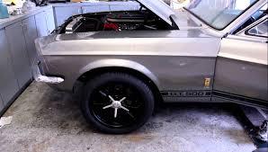 67 Mustang Black American Racing Black Wheels On 67 Fastback Youtube