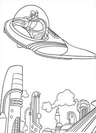 printable spaceship coloring pages coloring me meet the robinsons