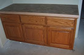 hand crafted oak bathroom cabinet with laminate countertop by