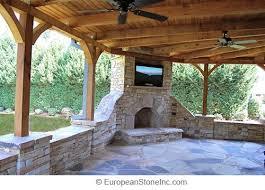 Hampton Bay Outdoor Fireplace - patio outdoor covered patio home interior design