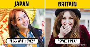 what in call each other in different countries