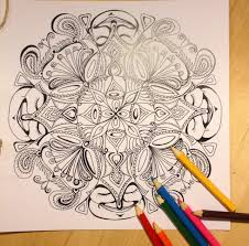 laughing buddha mandala coloring page instant