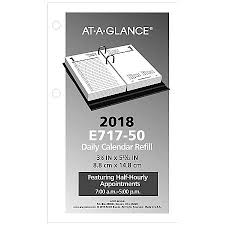 Office Depot Desk Calendars At A Glance Desk Calendar Refill 3 12 X 6 January December 2018