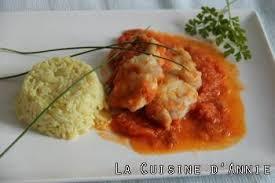 lotte a l armoricaine recette cuisine recette lotte à l américaine la cuisine familiale un plat une