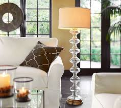 Yasmin Floor Lamp Jasmine Glass Floor Lamp Base Pottery Barn