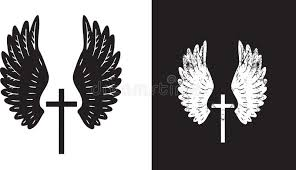 wings and cross stock vector illustration of vector 9205455