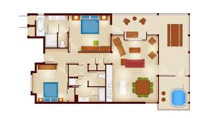 one bedroom cabin floor plans copper creek villas and cabins at disney s wilderness lodge rooms