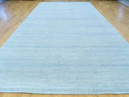 Wide Runner Rug 8 X14 3 Handmade Modern Grass Design Wool And Silk Wide Runner