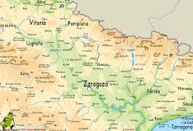 Zaragoza Spain Map by Calzada Romana De Zaragoza A Francia