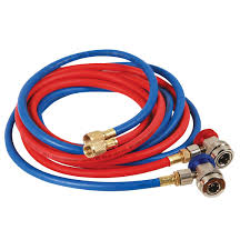 r134a red and blue hose set with manual couplers fjc fjc6448
