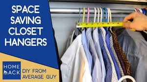 closet hangers that save closet space youtube